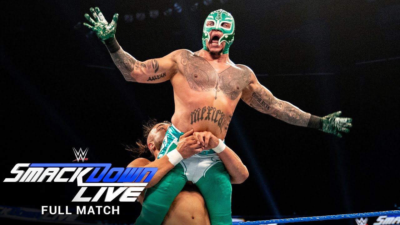 WWE - FULL MATCH - Rey Mysterio vs. Andrade – 2-out-of-3 Falls Match: SmackDown, Jan. 22, 2019