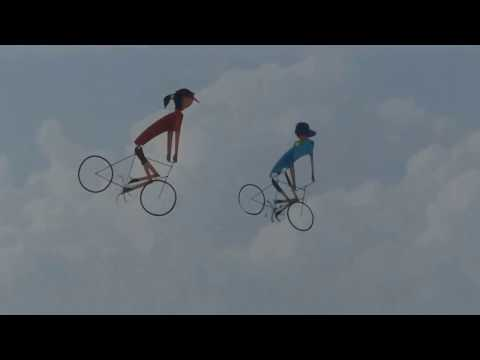 《Taiwan三馬風箏工廠www.sanmakite.url.tw》各式腳踏車風箏簡介 - YouTube