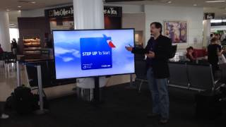 NewAer Proximity live sign demo for American Airlines