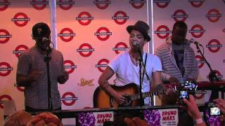 """Bruno Mars performs """"Count On Me"""" live at Waterloo Records in Austin TX"""