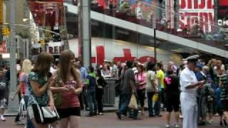Times Square Naked Cowboy Midtown Manhattan New York City NY Pt 2