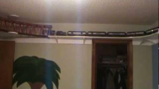 Model Train Shelf Around the Room