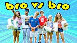 The Bubble Wrap Challenge! (MattyBRaps vs Josh ft JB & Haschak Sisters)