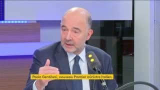 """""""Il n'y aura pas de crise bancaire italienne """" affirme Pierre Moscovici"""