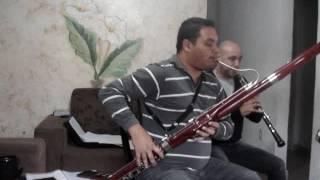 Estudo Fagote - Dueto Fagote e Oboé - Hino 101