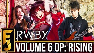 "RWBY Volume 6 Intro - ""Rising"" Metal Guitar Cover (feat. Adriana Figueroa)  