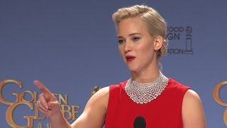 Jennifer Lawrence Called Out For Throwing Shade At Golden Globes Reporter