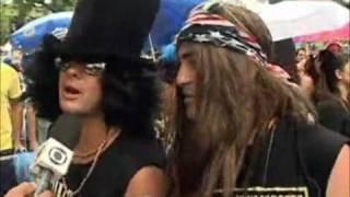 Axl Rose e Slash no carnaval do Rio de Janeiro