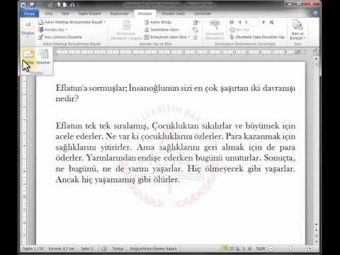 WORD 2010    21-Adres Mektup Birleştirme-2