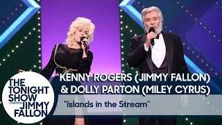 "Jimmy Fallon and Miley Cyrus Recreate Kenny Rogers and Dolly Parton's ""Islands in the Stream"""