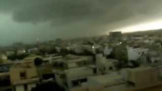 Dangerous Thunder storm hits Karachi 2015