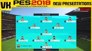 PES 2018 vs PES 2017: NEW MENU'S AND IN GAME PRESENTATION