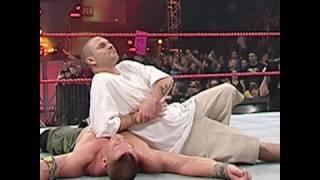 Raw, Jan. 1, 2007: Kevin Federline grabs a victory over John Cena width=
