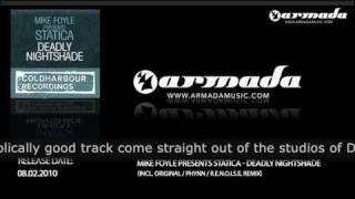 Mike Foyle presents Statica - Deadly Nightshade (Original Mix)(CLHR086)