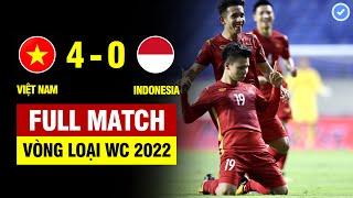 FULL | VIỆT NAM vs INDONESIA | VÒNG LOẠI WORLD CUP 2022 | 07/06/2021 BẢN ĐẸP