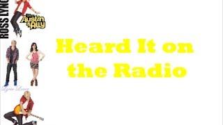 Ross Lynch - Heard It on the Radio (Lyrics)