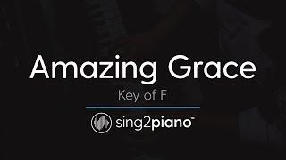 Amazing Grace (Key of F - Piano Karaoke Instrumental)