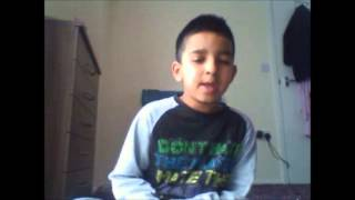 8 year old singing and rapping to Angel - Ride out ft Sneakbo (fast forwarded)