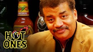 Neil deGrasse Tyson Explains the Universe While Eating Spicy Wings | Hot Ones width=