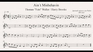 AIN´T MISBEHAVIN:  Bb inst (clarinete, trompeta, saxo soprano/tenor) (partitura con playback)