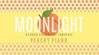 Moonlight - Grace VanderWaal (Lower Key)   Piano Backing Track
