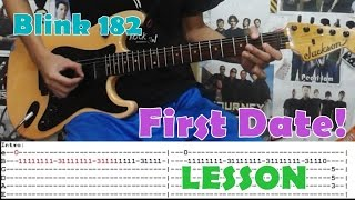 First Date - Blink 182(Guitar Lesson/Cover)with Chords and Tab