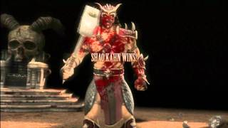 Mortal Kombat 9 Shao Kahn - all Fatalities (Full HD)