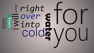 Major Lazer - Cold Water (feat. Justin Bieber & MØ) (Lyrics Video) (Kinetic Typography)