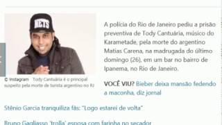 Músico do Karametade é suspeito pela morte de argentino