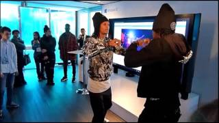 Official video Les Twins Perform at Windows Cube 2015 (HD)