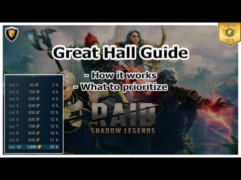 RAID Shadow Legends | Great Hall Guide