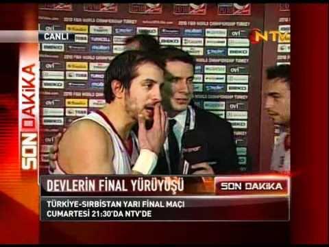 Fiba 2010 Türkiye - Slovenya Maç sonu röportajlar