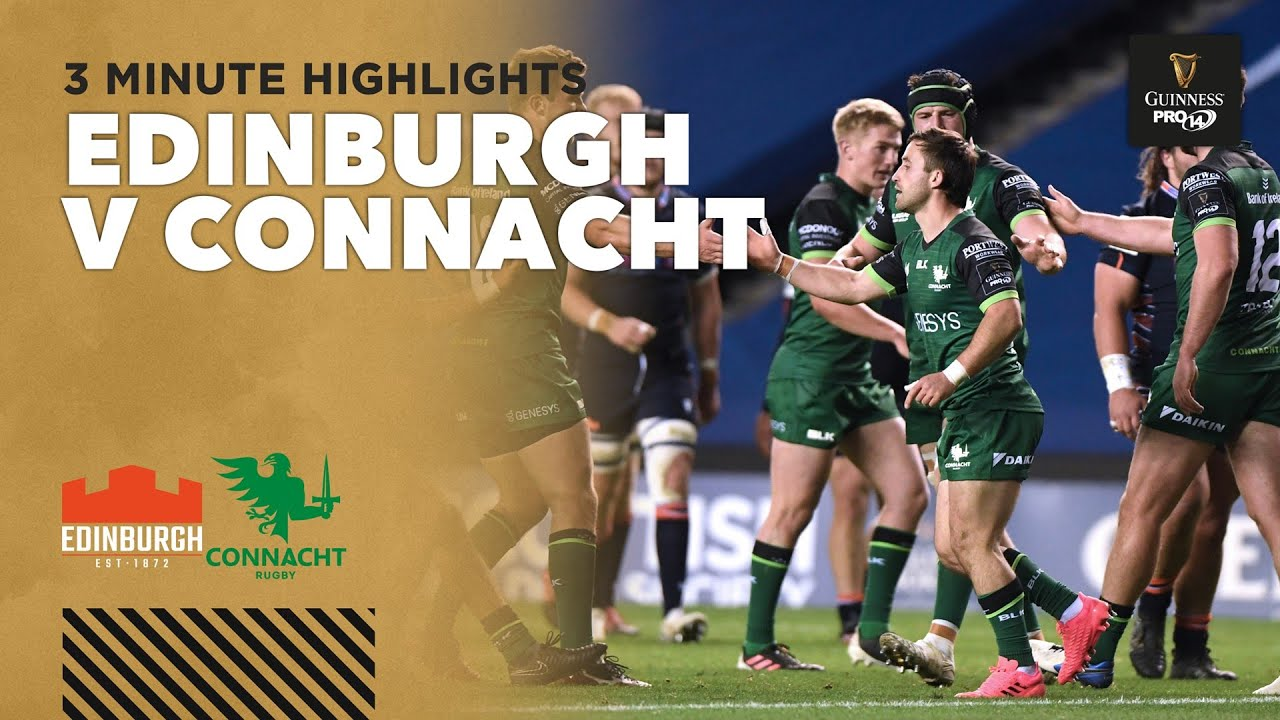 Edinburgh v Connacht – PRO14 Rugby Highlights