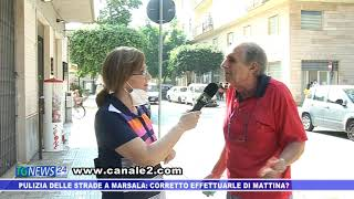 PULIZIA DELLE STRADE A MARSALA: CORRETTO EFFETTUARLE DI MATTINA