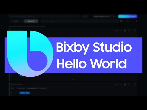 Bixby Hello World Tutorial