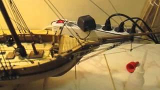 Video guida per costruire un modello di veliero; manovre