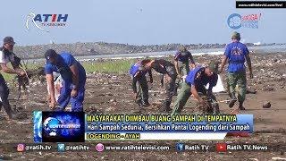 Sat Polairud Polres Kebumen Bersih Pantai Logending