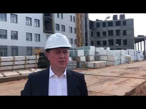 Александр Полухин: на стройплощадке детской областной больницы приступили к подготовке объекта к предстоящему отопительному сезону