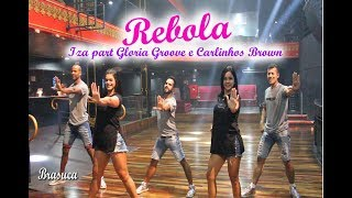 Iza part Gloria Groove e Carlinhos Brown - Rebola (Coreografia Brasuca) HD