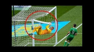 10 WEIRDEST MOMENTS WITH A FOOTBALL GOAL