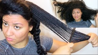 How To Detangle DRY, MATTED & UNMANAGEABLE Natural Hair