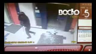 Fumaça de segurança impede explosão caixa eletrônico Muritiba