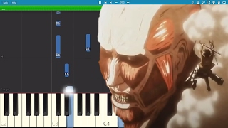 Attack On Titan Theme - Simple Piano Arrangement / Tutorial - Guren no Yumiya - Shingeki no Kyojin
