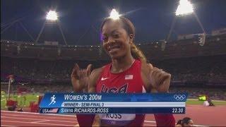 Women's 200m Semi-Final Full Races - London 2012 Olympics