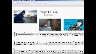 Shape of you. Ed Sheeran. Partitura flauta.