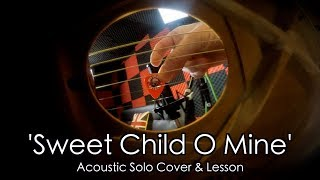 Sweet Child O Mine Solo by Guns N Roses - Acoustic Cover & Lesson