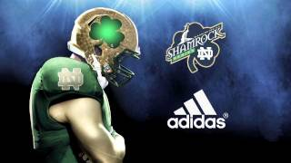 Notre Dame Football - Shamrock Series Helmets paint process by Troy Lee Designs