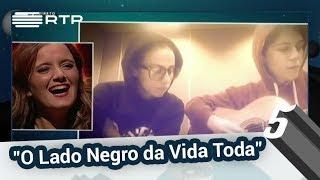 """Carolina Deslandes reage à versão """"O Lado Negro da Vida Toda""""   5 Para a Meia-Noite   RTP"""