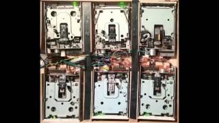 "The Prodigy - ""Voodoo People"" (Pendulum Remix) on 6 floppy drives"