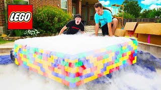 PUTTING 500 POUNDS OF DRY ICE IN A LEGO POOL!